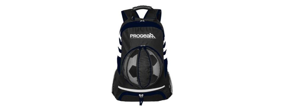 progear soccer backpack w/ ball pocket