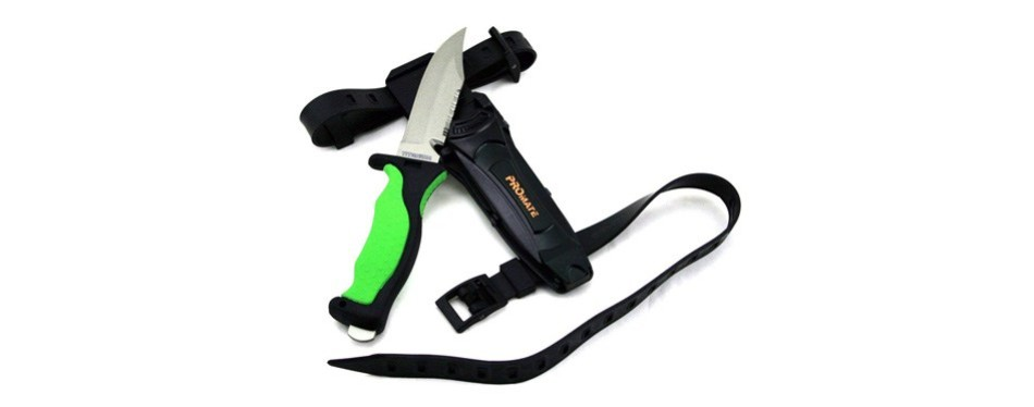 promate scuba diving snorkeling titanium knife