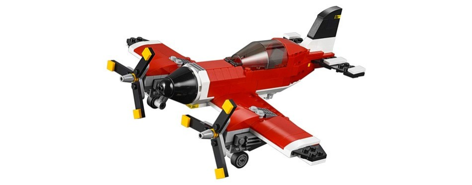 propeller plane building toy, vehicle lego creator set