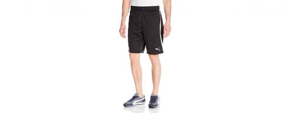 puma men's formstripe mesh shorts