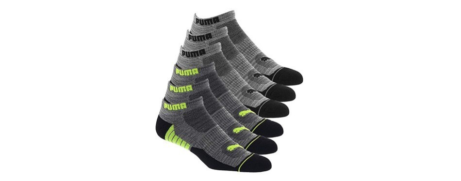 puma men's 6 pack low cut socks