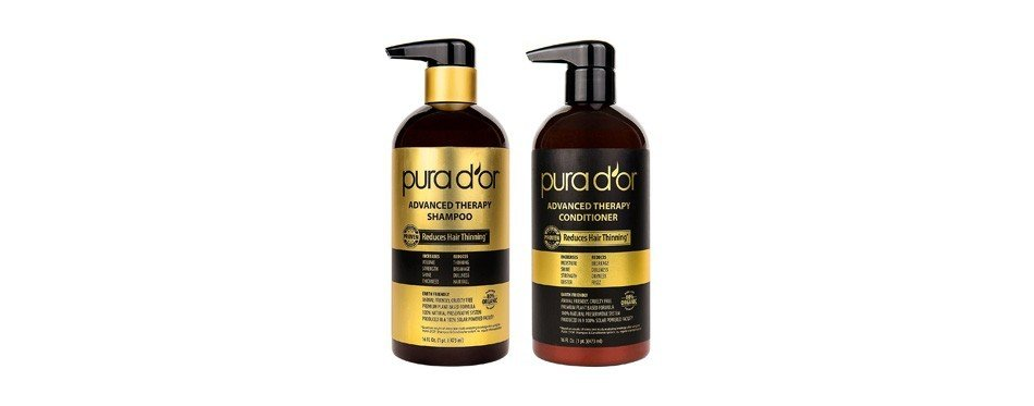 pura d'or advanced therapy system shampoo & conditioner - hair oil