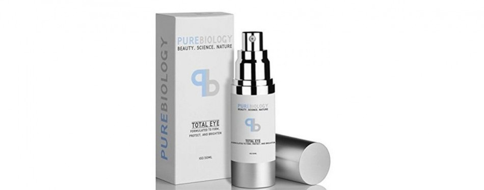 pure biology total eye anti aging eye cream