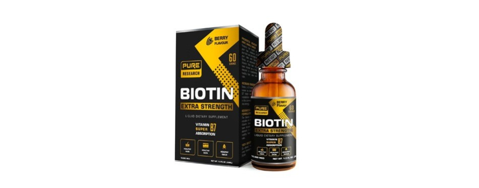 pure research extra strength 10000mcg biotin liquid drops