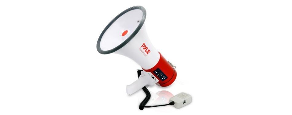 pyle megaphone 50-watt siren bullhorn
