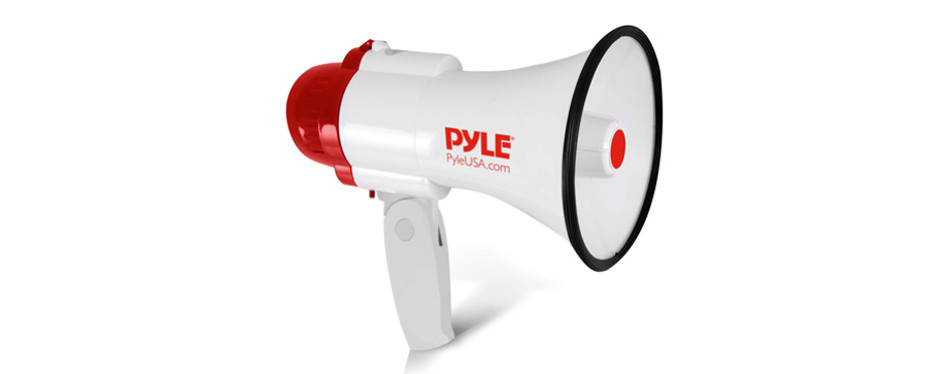 pyle megaphone speaker lightweight bullhorn