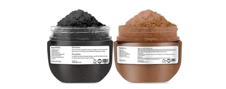 qqcute himalayan charcoal coffee body scrub