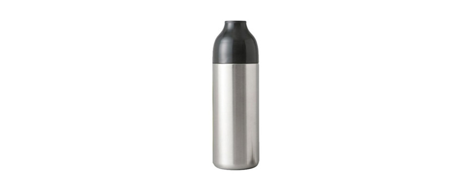 rabbit double walled twist-to-lock stainless steel cocktail shaker and strainer