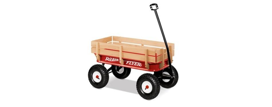 radio flyer steel and wood wagon