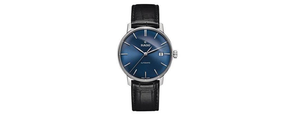 rado coupole classic blue dial watch