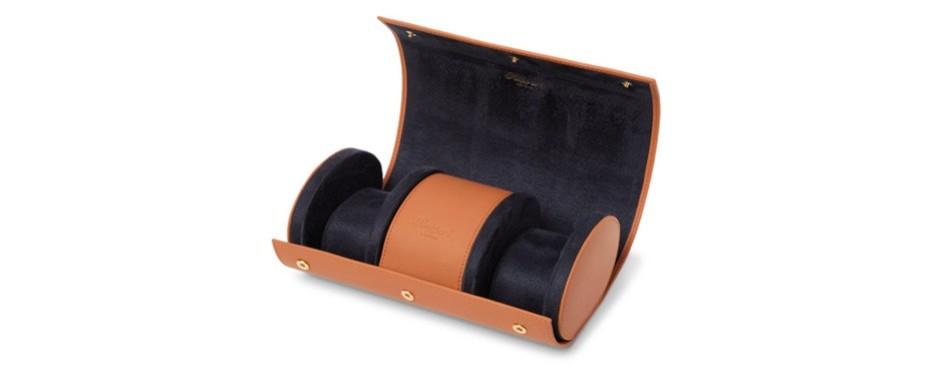 rapport london leather watch roll