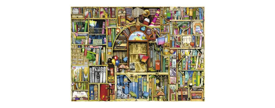 ravensburger– bizarre bookshop 2 – 1000 piece jigsaw puzzle