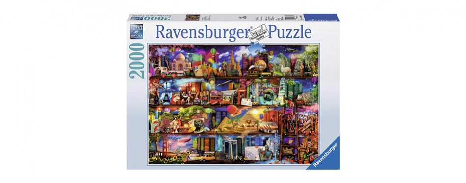 ravensburger– world of books puzzle – 2000 piece jigsaw puzzle