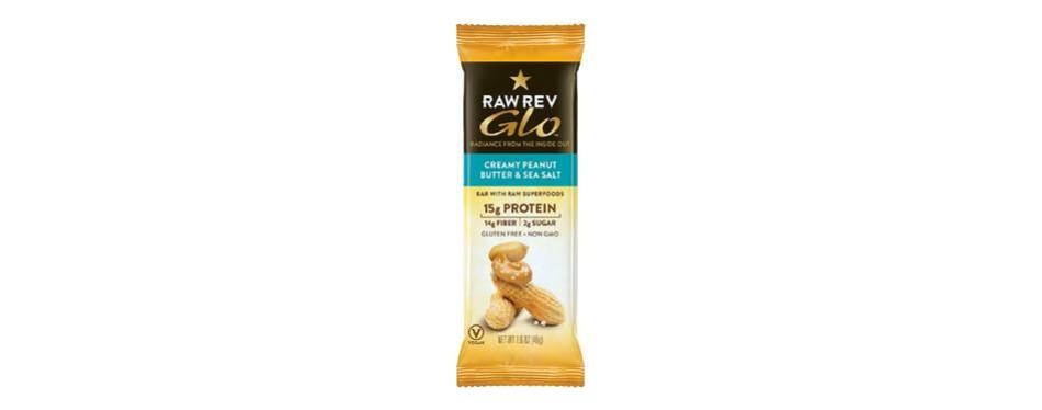 raw rev glo protein bars