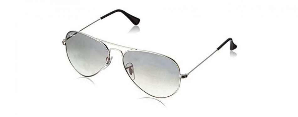 ray-ban 3025 large metal non-mirrored aviator sunglasses