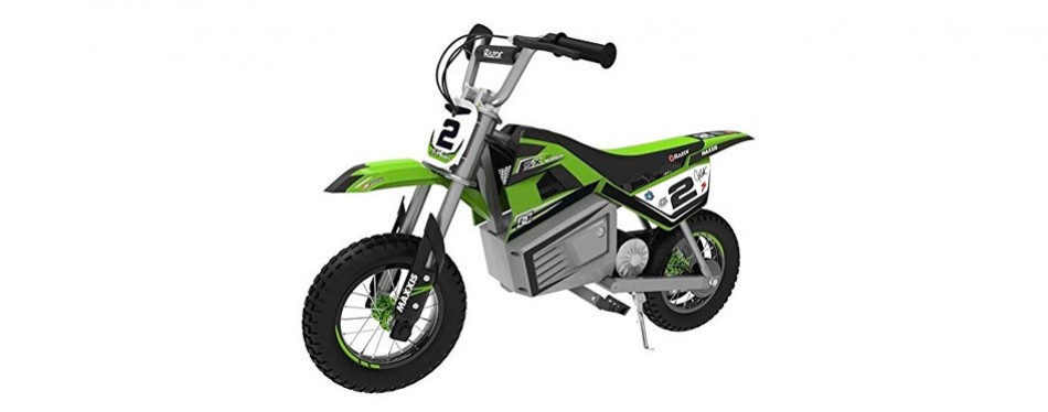 razor dirt rocket sx350 green mcgrath electric motocross bike