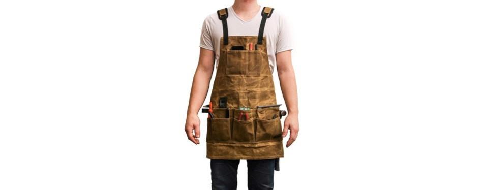 readywares waxed canvas tool apron