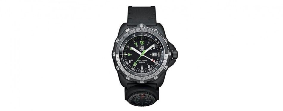 recon steel and rubber casual watch