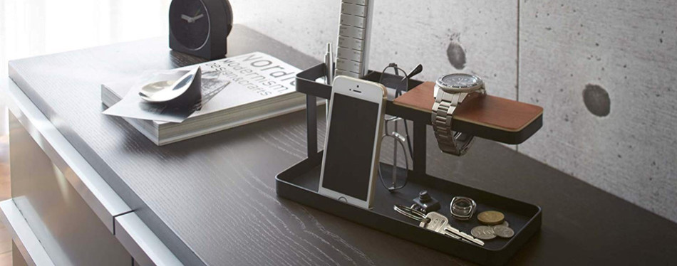 red co. metal desktop organizer