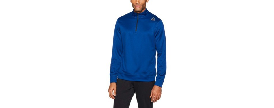 reebok workout ready grid 1/4 zip