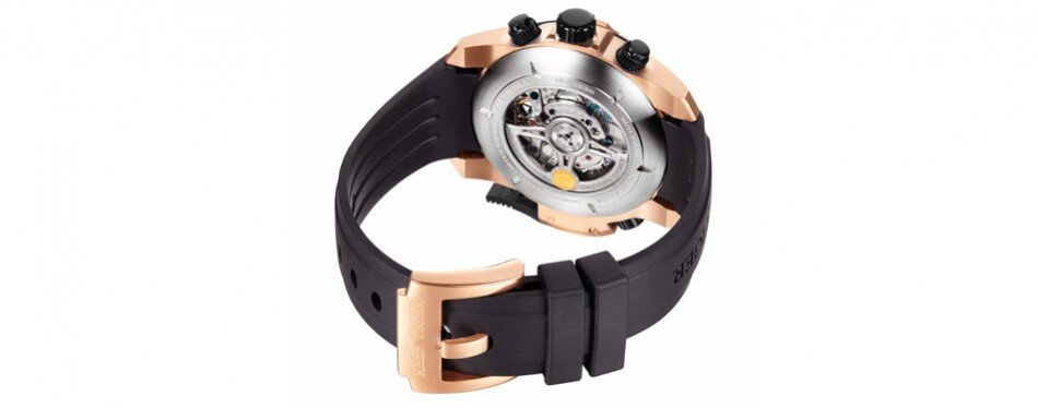 reef tiger mens' military rose gold watch