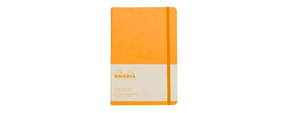 rhodia orange webnotebook with dot grid