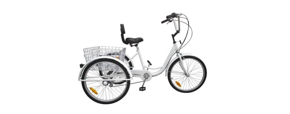 ridgeyard 6 speed 3 wheel adult tricycle