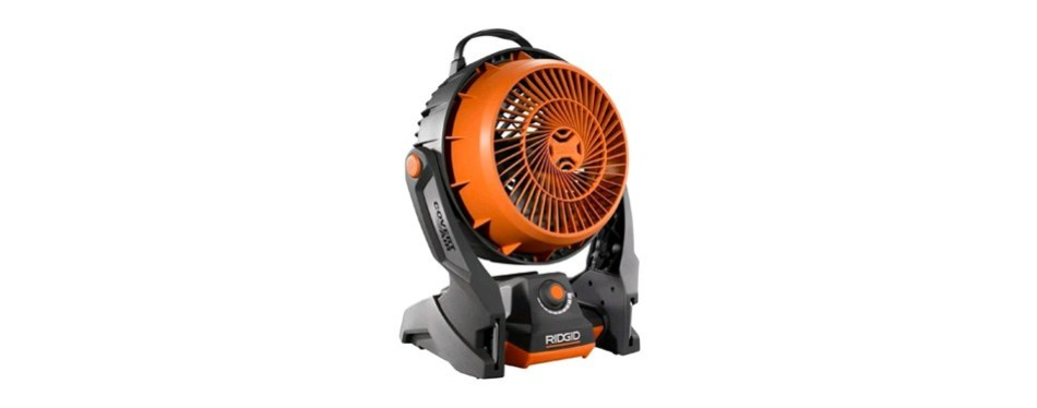 ridgid 18 volt hybrid corded and cordless fan
