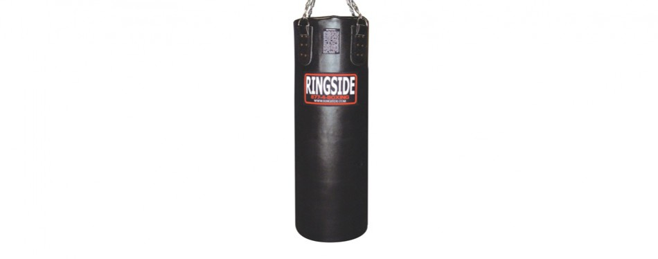 ringside leather 65 lb. heavy bag