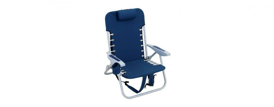 rio beach lace-up folding backpack beach chair