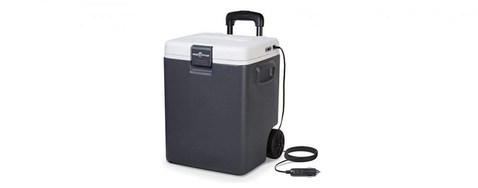 rockpals 12v plug-in electric cooler on wheels & handle