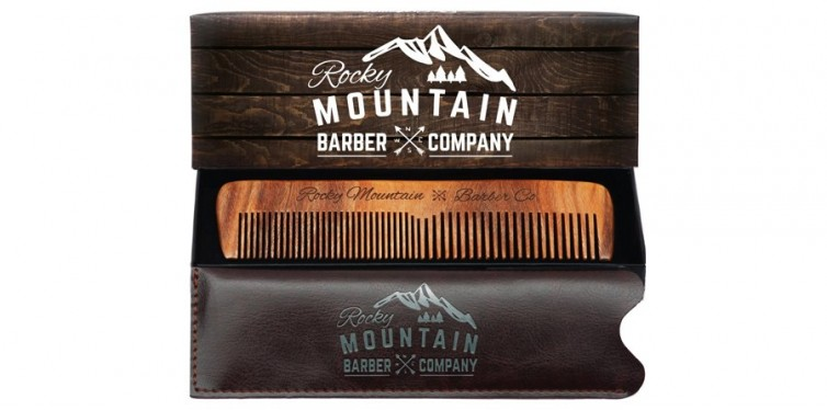 Rocky Mountain Barber Company Hair, Beard and Moustache Comb