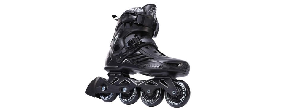 roselle black professional roller inline skates