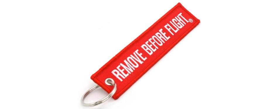 rotary13b1 remove before flight key chain
