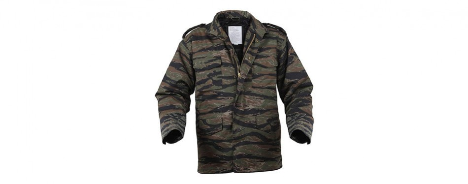 rothco m-65 field jacket in tiger stripe