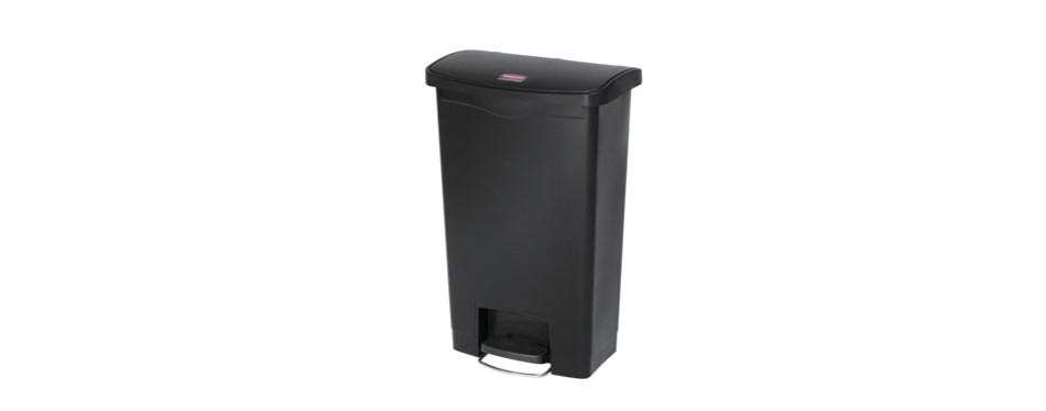 rubbermaid commercial slim jim step-on plastic trash can