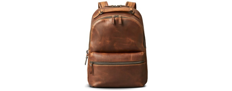 runwell leather backpack, by shinola