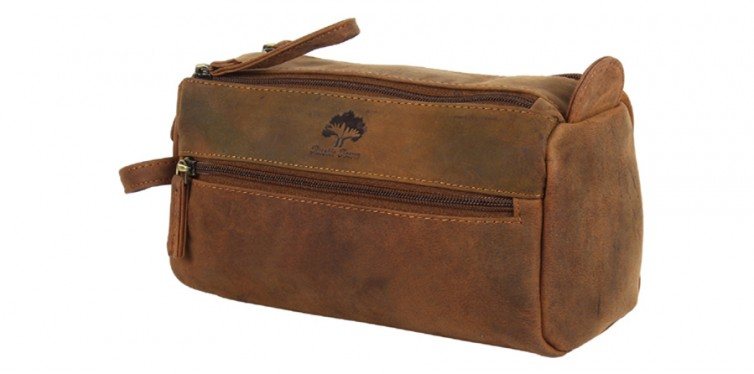 RusticTown Leather Toiletry Bag