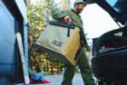 rux - a compressible weather-resistant bag