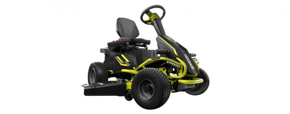 ryobi 75 ah electric riding lawn mower