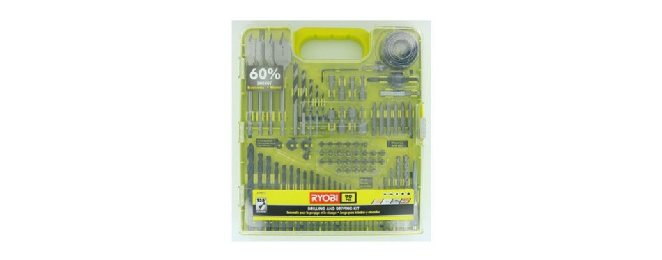 ryobi a98901g 90 piece drilling and driving kit