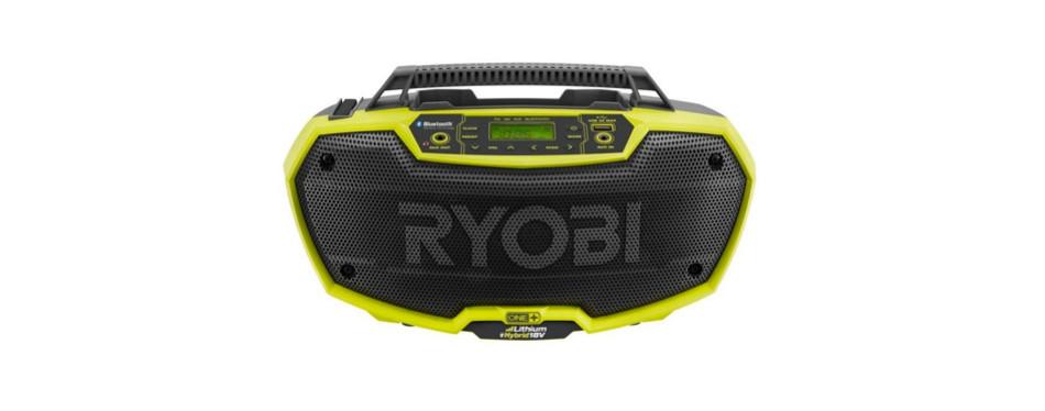 ryobi p746 one+ 18-volt lithium ion jobsite radio