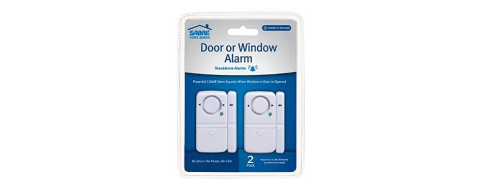 sabre wireless home security door alarm