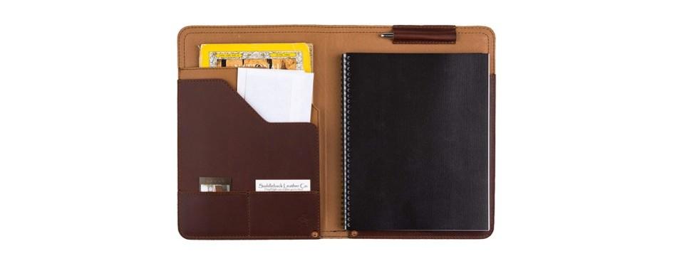 saddleback leather co. business notepad holder