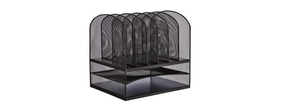safco products onyx mesh desktop organizer