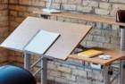 safco split level drafting table
