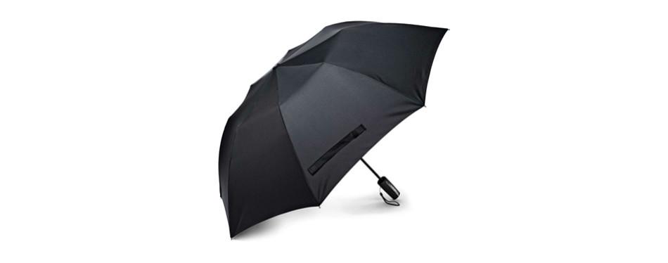 samsonite auto open umbrella black