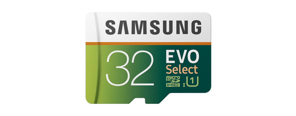 samsung 32gb microsd evo select memory card