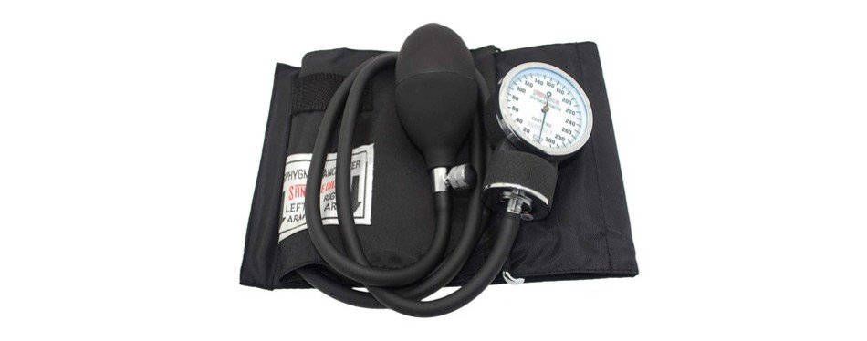 santamedical adult deluxe aneroid sphygmomanometer - professional blood pressure monitor