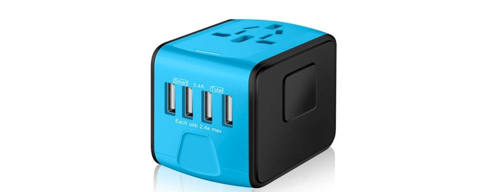 saunorch universal travel adapter